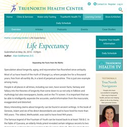 Life Expectancy | TrueNorth Health