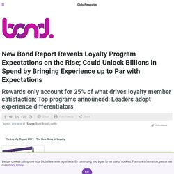 New Bond Report Reveals Loyalty Program Expectations on the Rise; Could Unlock Billions in Spend by Bringing Experience up to Par with Expectations