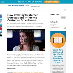 How Evolving Customer Expectations Influence Customer Experiences