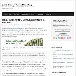 Small Business SEO: Costs, Expectations & Realities