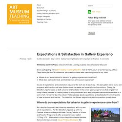 Expectations & Satisfaction in Gallery Experiences