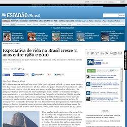 Expectativa de vida no Brasil cresce 11 anos entre 1980 e 2010 - brasil - geral