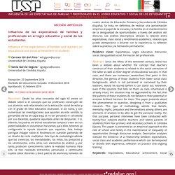 Influencia de las expectativas de familias y profesorado en el logro educativo y social de los estudiantes