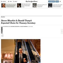 Trump Taps Hollywood's Mnuchin for Treasury and Dines With Romney