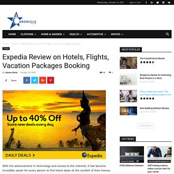 Expedia Review on Hotels, Flights, Vacation Packages Booking