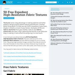 50 Free Expedient High-Resolution Fabric Textures