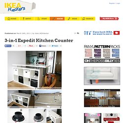3-in-1 Expedit Kitchen Counter