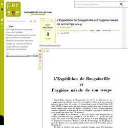 L'Expédition de Bougainville et l'hygiène navale de son temps