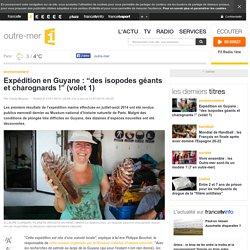 """Expédition en Guyane : """"des isopodes géants et charognards !"""" (volet 1)"""