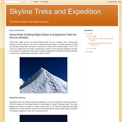 Skyline Treks and Expedition: Island Peak Climbing-Right Option to Experience Treks for Novice Climbers