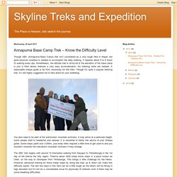 Skyline Treks and Expedition: Annapurna Base Camp Trek – Know the Difficulty Level