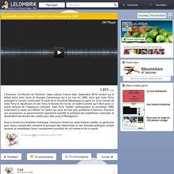 Les expéditions coloniales : le débat Ferry-Clemenceau de 1885