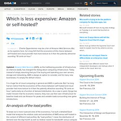 Which is less expensive: Amazon or self-hosted?