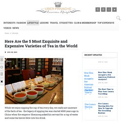 Most Expensive Tea Brands in The World - Costliest Tea in The World