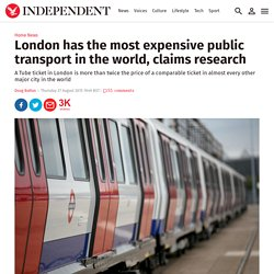 London has the most expensive public transport in the world, claims research