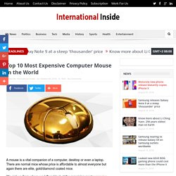 List of Most Expensive Computer Mouse