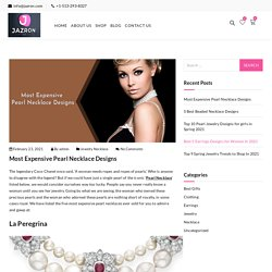 Most Expensive Pearl Necklace Designs - Jazron