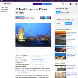 10 Most Expensive Places to Visit