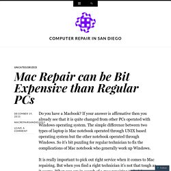 Mac Repair can be Bit Expensive than Regular PCs