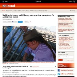 Budding jackaroos and jillaroos gain practical experience for agriculture career - ABC Rural