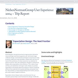 nng User Experience 2004 in Amsterdam - mprove.de