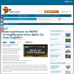 Mon expérience au MOOC «L'anglais pour tous, Spice Up Your English!»