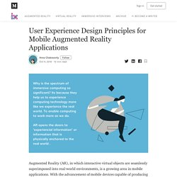 User Experience Design Principles for Mobile Augmented Reality Applications