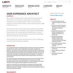 User Experience Architect – Lab49