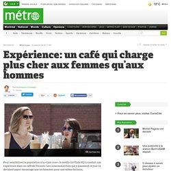 Expérience: un café qui charge plus cher aux femmes qu'aux hommes