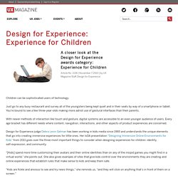 Design for Experience: Experience for Children