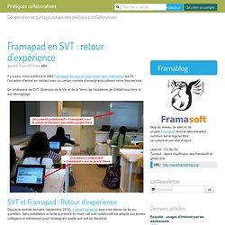 Framapad en SVT : retour d'expérience