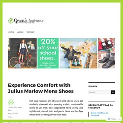 Experience Comfort with Julius Marlow Mens Shoes