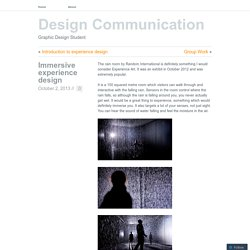Immersive experience design