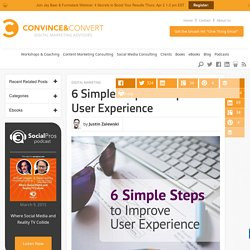 6 Simple Steps to Improve User Experience