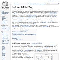 Expérience de Miller-Urey