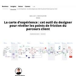 La carte d'expérience : cet outil du designer pour révéler les points de friction du parcours client // FABERNOVEL