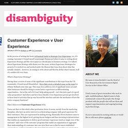 Customer Experience v User Experience