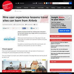 Nine user experience lessons travel sites can learn from Airbnb