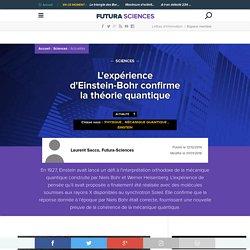 L'expérience d'Einstein-Bohr confirme la théorie quantique