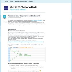 Astuces et retour d'expérience sur Elasticsearch