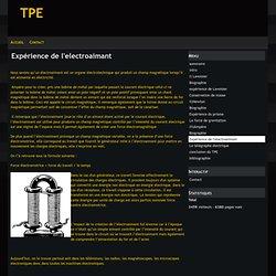 Expérience de l'electroaimant - tpe