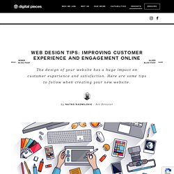 Web design tips: Improving customer experience and engagement online