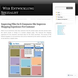Improving Filter In E-Commerce Site Improves Shopping Experience For Customer