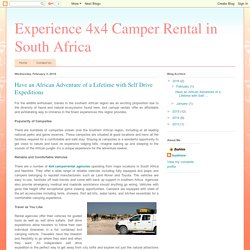 Have an African Adventure of a Lifetime with Self Drive Expeditions