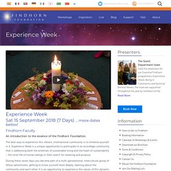 Experience Week - Findhorn Foundation
