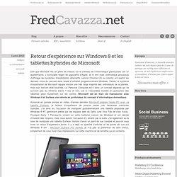 Retour d'expérience sur Windows 8 et les tablettes hybrides de Microsoft