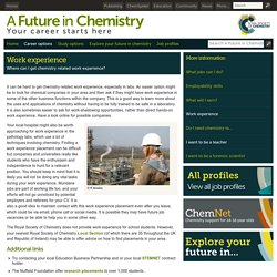 A Future in Chemistry