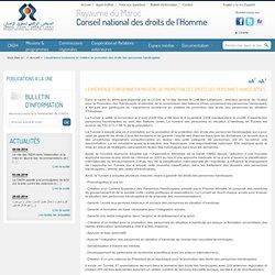 institution nationale pour la promotion et la protection des droits de l'Homme