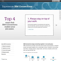 Experience IBM Connections