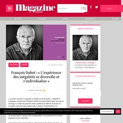 François Dubet : « L'expérience des inégalités se diversifie et s'individualise »